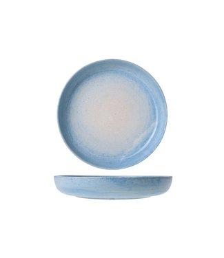 Cosy & Trendy Destino Licht Blauw Diepe Borden  - Aardewerk - D21.5xh3.5cm (set van 6)