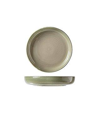 Cosy & Trendy Destino Light Green Deep Plates D21.5xh3.5cm - Ceramic - (set of 6)