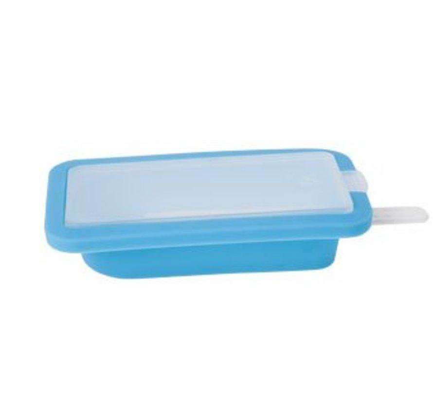Ijslolly-vorm 11.5x6.3x2.6cm Blauwsilicone