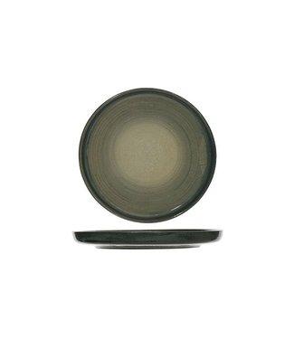Cosy & Trendy Destino - Groen - Broodbordje - Keramiek - D15.5cm - (set van 6)