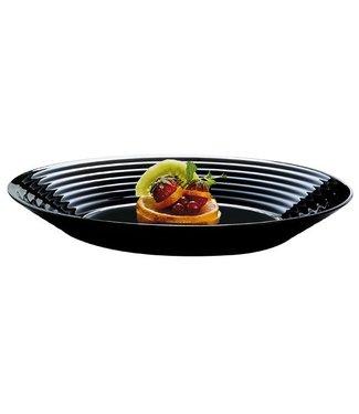 Luminarc Harena Tableware - Deep Plates - 23.6 cm - Black - Glass - (set of 6)