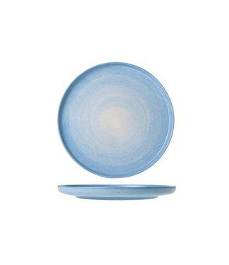Cosy & Trendy Destino Licht Blauw Plat Bord Aardewerk -  D25cm (set van 6)