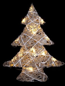 Cosy @ Home Kerstboom Snowy String 15led39x10xh48cm - Excl 3aa Batt