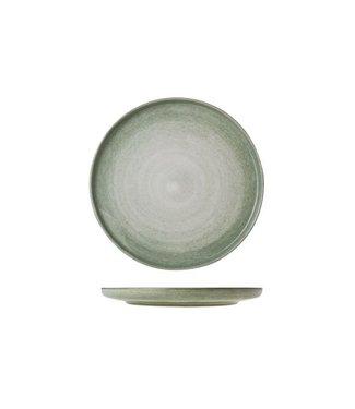 Cosy & Trendy Destino Licht Groen Plat Bord Aardewerk -  D25cm (set van 6)