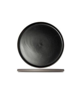 Cosy & Trendy 1350 Black Plat Bord Porselein -  D28xh2cm  (set van 6)