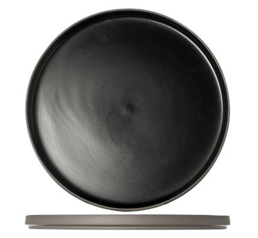 1350 Black Plat Bord D28xh2cm (set van 4)