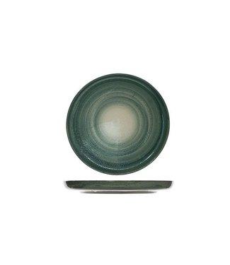 Cosy & Trendy Destino Groen Dessertborden - Aardewerk - D19.5cm  (Set van 6)