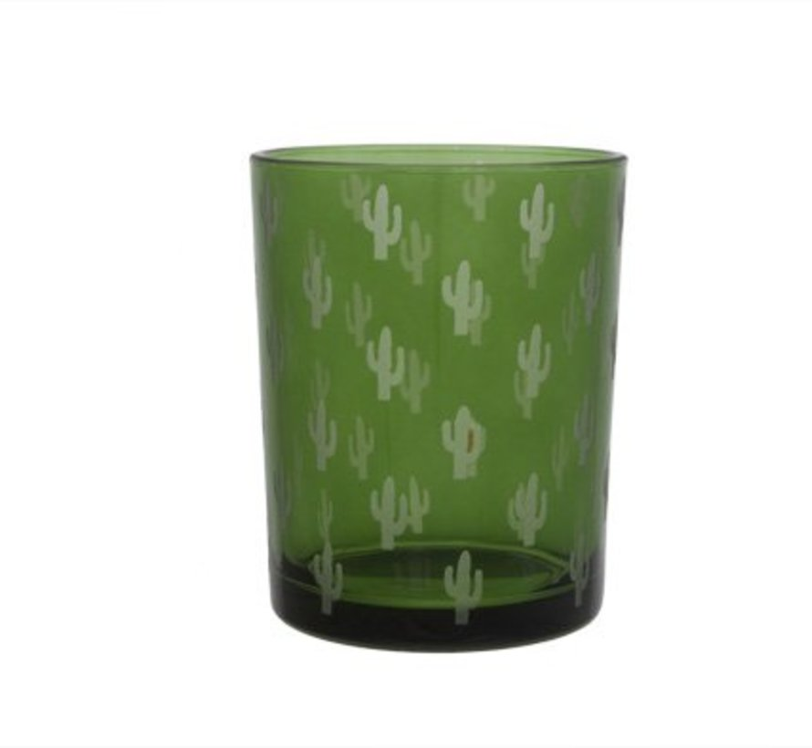 T-lichth Cactus Gravure Groen D10xh12.5