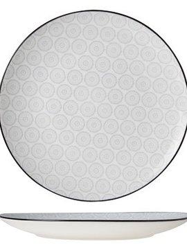 CT Tavola Grau Flacher Teller D26cm 6er Set