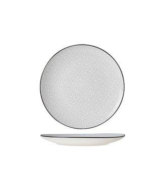 Cosy & Trendy Tavola Grey Plat Bord  Aardewerk - D26cm (set van 6)
