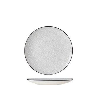 Cosy & Trendy Tavola Grijs Dessertborden  - Aardewerk - D20cm   (Set van 6)
