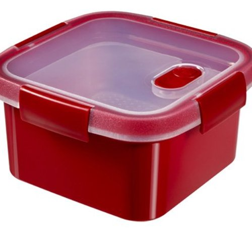 Curver Smart Microwave Steamer Vk 1.1l Rood16x16x9cm - Steaming Tray