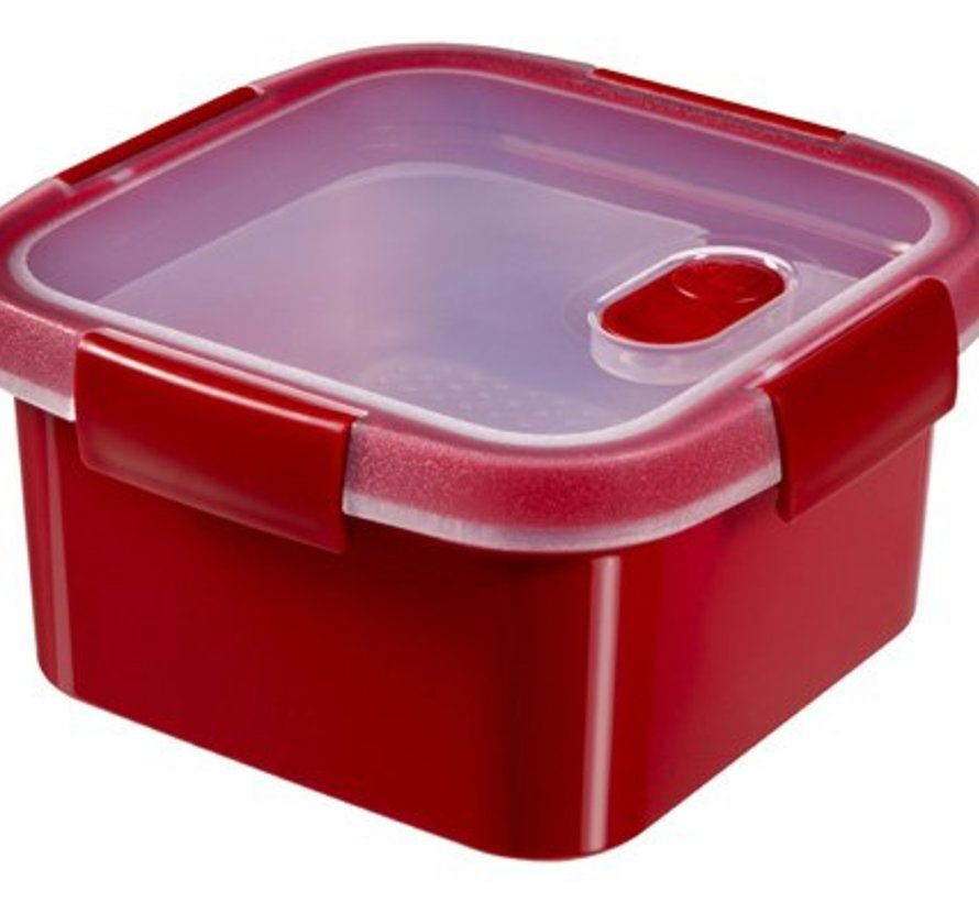 Smart Microwave Steamer Vk 1.1l Rood16x16x9cm - Steaming Tray