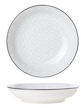 CT Tavola Gray Deep Plate D20.5cm set of 6