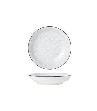 Cosy & Trendy Tavola-Grau - Tiefe Platte - D20,5 cm - Porzellan - (6er-Set)