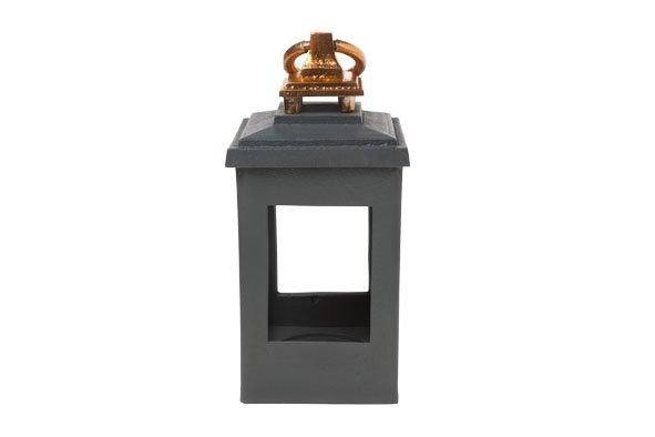 Cosy & Trendy Alu Lantaarn Graphite-koper 12.5xh27cm
