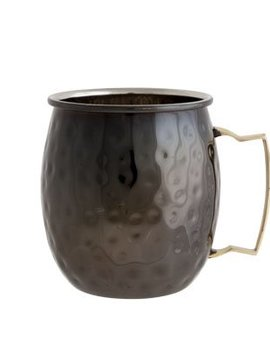 CT Moscow Mug 10x8cm Black Hammered set of 4