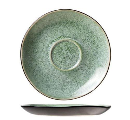 Cosy & Trendy Finesse Green Saucer D14cm