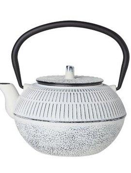 CT Kinosaki Teapot White 1.2l cast iron