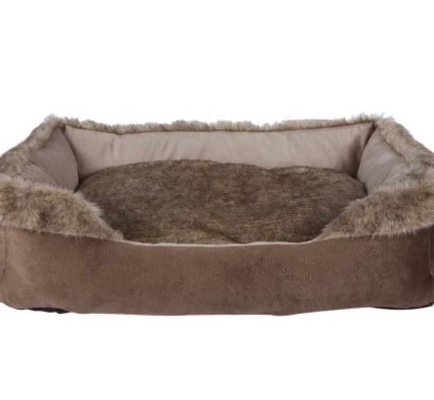 Rectangle Bolster Bed Braun 70x50xh22cmremovable Pillow