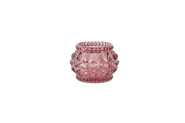 Cosy @ Home Theelichtglas Stud Roze  D7xh5cm (set van 6)