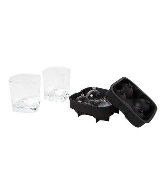Cosy & Trendy Whiskyglas Met Ijsbolvorm S3 D8,2xh8,6cmcolor Box