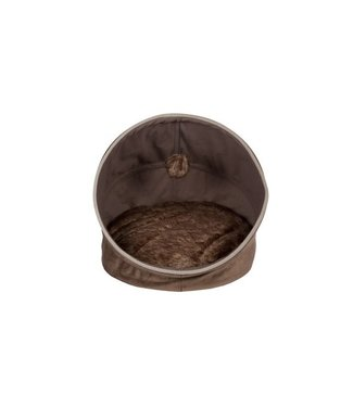 Cosy & Trendy Popup Pet Cave Brown 46x43x43cmremovable Pillow