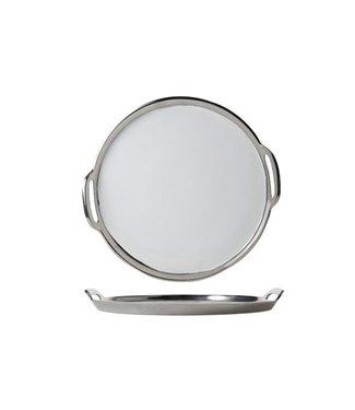 Cosy & Trendy Serving Tray Round 25cm Nickel-enamel