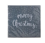 Cosy & Trendy Ct Napkin S20 33x33cm Grey -merry Christmas White  Paper 3-ply