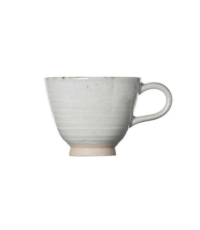 Cosy & Trendy Avalon - Grijs - Espressotassen - 15 cl - Porselein - D8xh7cm -  (set van 6)