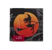 Cosy & Trendy Ct Serviet S20 33x33cm Zwart-heks-bezemzon Oranje Paper 3laags