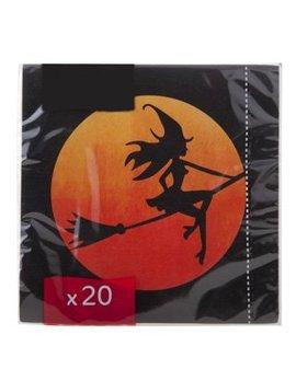 Cosy & Trendy Ct Napkin S20 33x33cm Black-witch-broomorange Sun -paper 3-ply