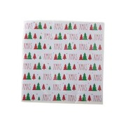 Cosy & Trendy Ct Napkin S20 33x33cm White-xmas-treegreen-red Paper 3-ply