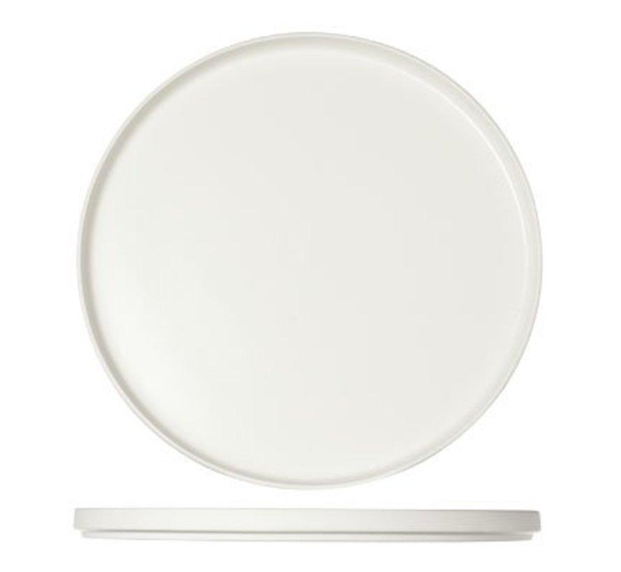 1350 White Plat Bord D28xh2cm (set van 4)
