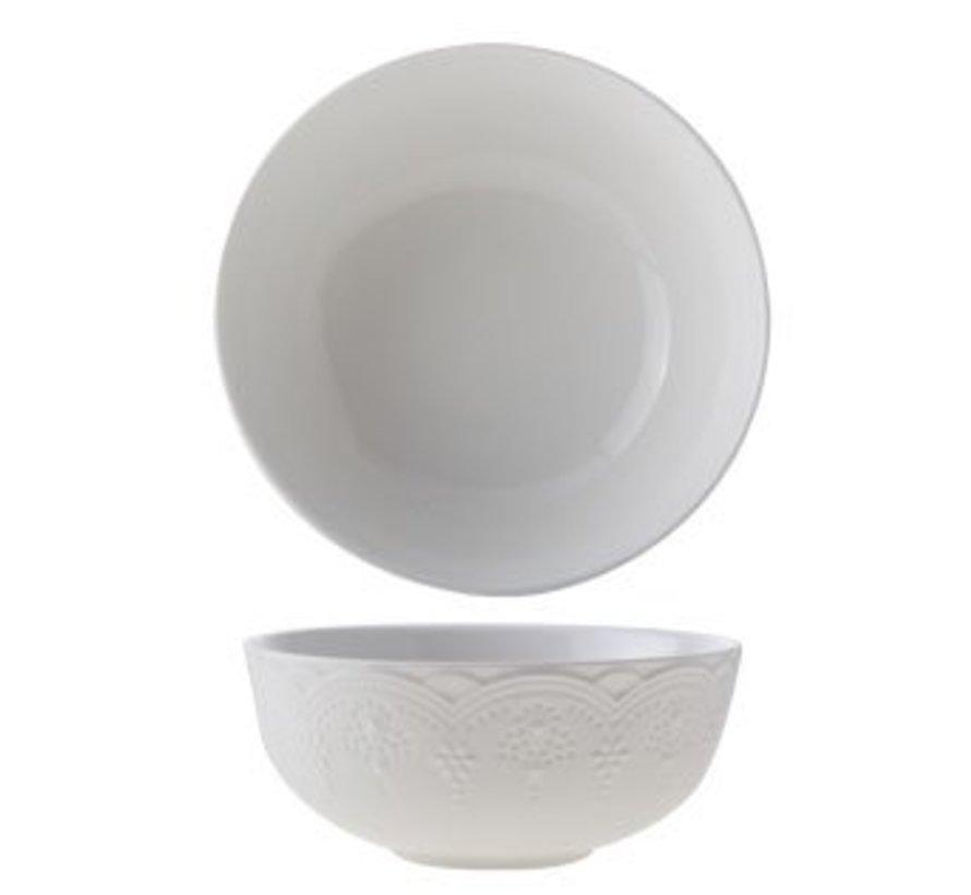 Belverdere White Bowl D15.3xh6.5cmnew Bone China