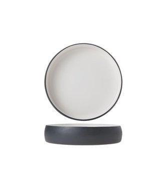 Cosy & Trendy Plate Alu 22cm White Enamel Grey Grahite