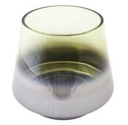 Cosy @ Home Lina Green Theelichth D20x18cm Glasmetalic Finish