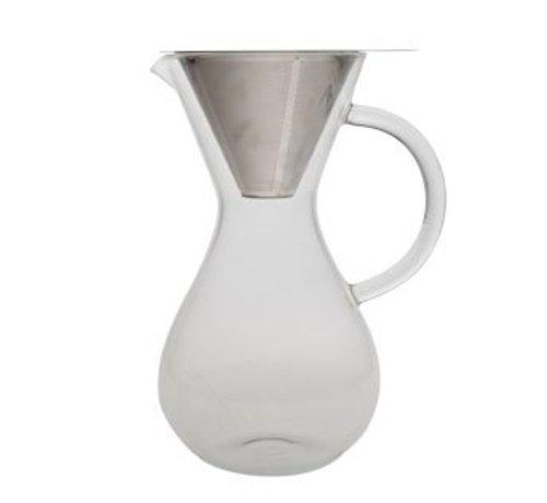 Cosy & Trendy Koffiekan Glas - Filter Rvs - Large 1 L14.5x23.5cm
