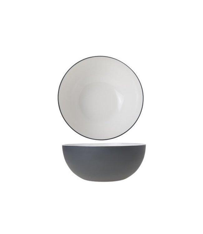 Cosy & Trendy Alu - Bowl - Wit - 20xh9cm - Aluminium - (set van 2)
