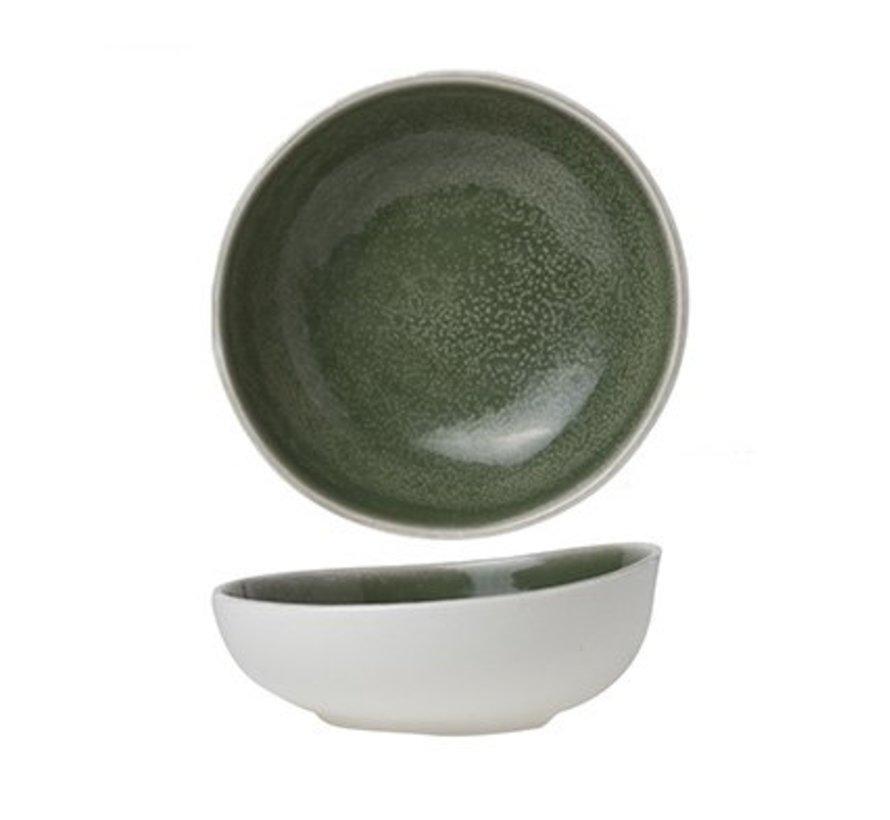 Chrome Green Bowl D14cm
