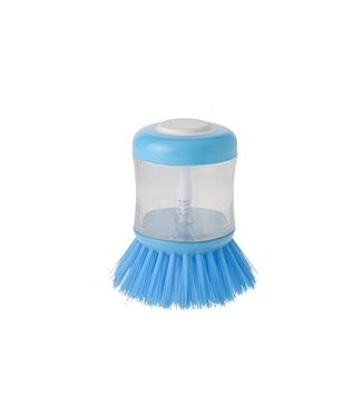 Cosy & Trendy Dish Brush With Soap Dispencer - Transparent - Plastic - (set of 6).