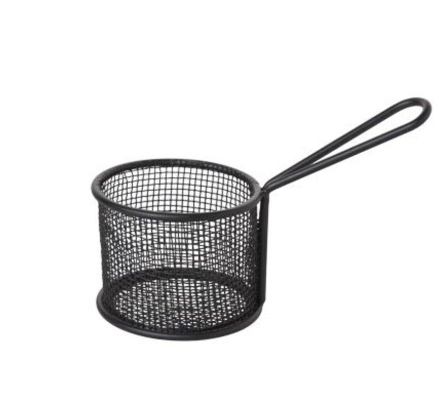 Frietmandje Zwart Dia 9.5xh7.5cm