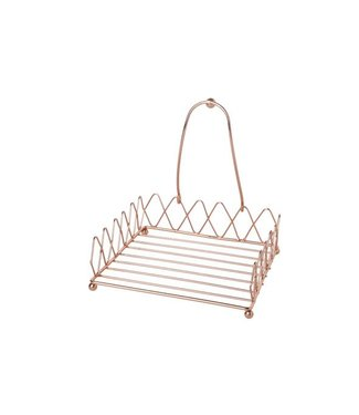 Cosy & Trendy Napkin holder - Copper - 18x18xh6cm - Metal - (set of 2).
