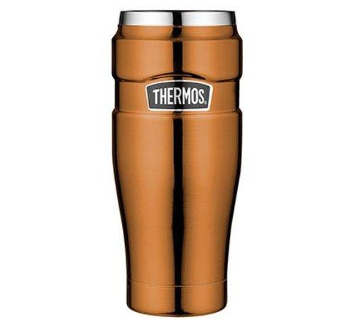 "Thermos ""King Tumbler Mug"" Koper kleur  470ml zonder Handvat (20*7 cm)"