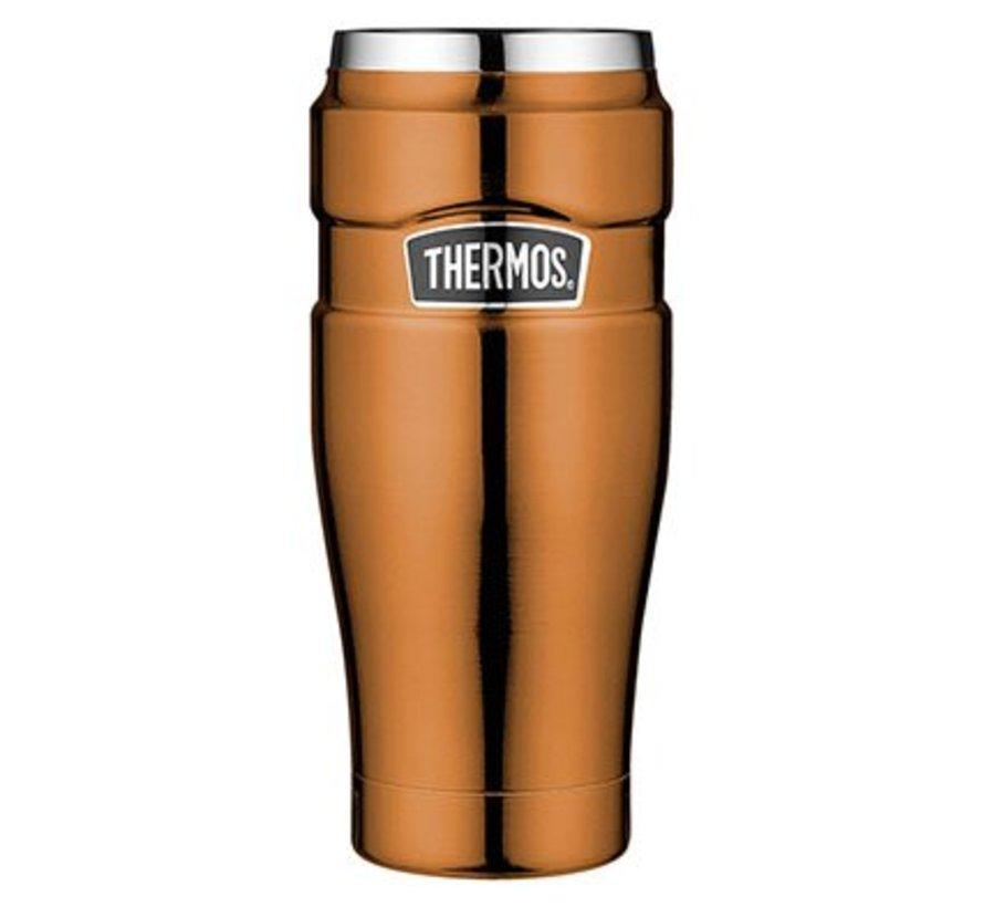 """""""King Tumbler Mug"""" Koper kleur  470ml zonder Handvat (20*7 cm)"""