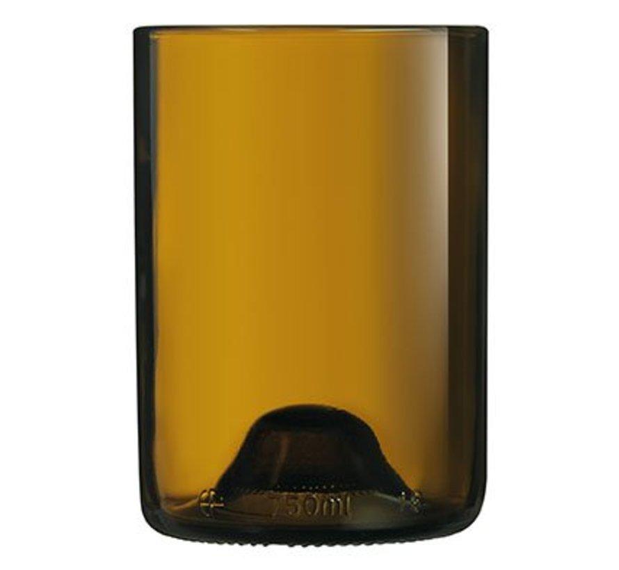Wine Bottom Tumbler Amber 36 Cl Set 6