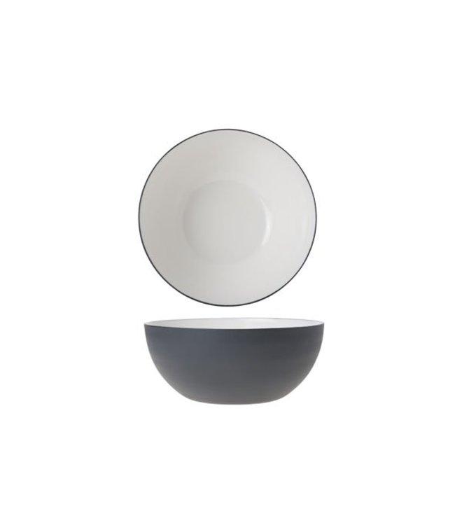 Cosy & Trendy Alu - Bowl - Wit - 16.5xh7cm - Aluminium - (set van 6)