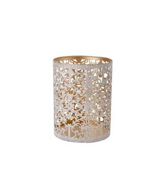 Cosy @ Home Thee-lichthouder D9xh8cm Goud Witwash