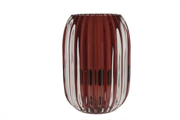 Cosy @ Home T-lichth Porto Rood Glas 9.4x9.4x13cm (set van 6)
