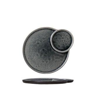 Cosy & Trendy Laguna-Blau-Grau - Teller mit 2 Fächern - Keramik - (6er-Set)